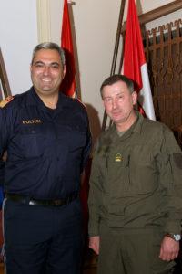 Major Haas und Oberstleutnant Schulyok